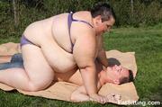 extremely fat monika smothering
