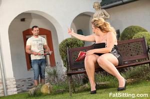 Blonde fatty Kristy turns on when gettin - XXX Dessert - Picture 3