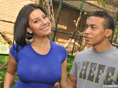 Swarthy latina mom rides a stiff rod and - XXX Dessert - Picture 1