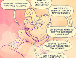 Horny cartoon old guy fucks hard cool blonde chick in - Picture 3