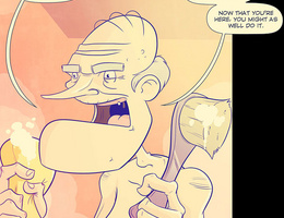 Horny cartoon old guy fucks hard cool blonde chick in - Picture 4