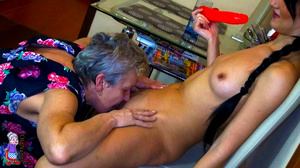 Elderly one hundred and twenty in the shade mature porn housewife is hugging her sexual gf - XXXonXXX - Pic 3