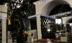 Latex dressed dominatrix abusing her - XXX Dessert - Picture 1