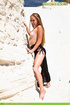 Hto blonde Anastasia takes off her black dress and…