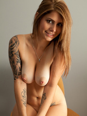 Red porn star girl with tattoos - Sexy Women in Lingerie - Picture 14