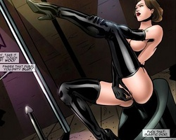 Lustful cartoon mistress in latex - BDSM Art Collection - Pic 1