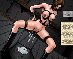 Lustful cartoon mistress in latex - BDSM Art Collection - Pic 2