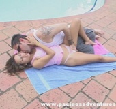 Very horny dude in sunglasses fingering hot…