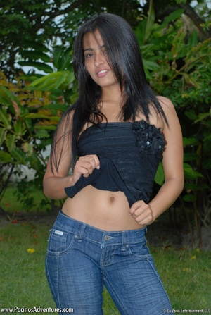Naughty teen girl enjoys fingering her tight latina pussy - XXXonXXX - Pic 3