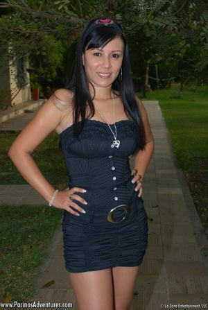 Very hot latina teen gets doggystyled before riding man's meat - XXXonXXX - Pic 1