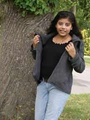 Shameless Indian teen in jeans shows off her big - XXXonXXX - Pic 4
