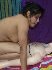 Dirty Indian bitch jumping on her blow-up male - XXXonXXX - Pic 2
