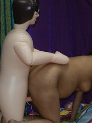 Dirty Indian bitch jumping on her blow-up male - XXXonXXX - Pic 12