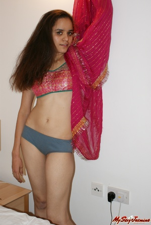 Nasty Indian teen girl undressing her sari to show you her delights and invite to sex - XXXonXXX - Pic 8