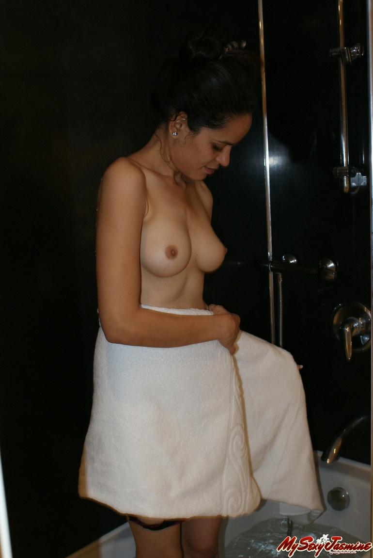 indian Bathing naked