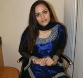 Hot Indian girl in nice blue national costume…