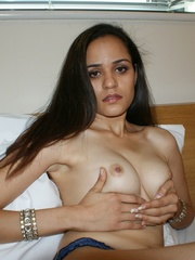 Hot Indian girl in nice blue national costume - XXXonXXX - Pic 12
