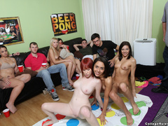 Naked college girls playing twister and - XXX Dessert - Picture 1