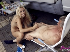 Very hot blonde tee Helen pleasing old boy - XXX Dessert - Picture 11