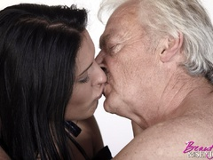 Horny old boss fucking his lovely brunette - XXX Dessert - Picture 9