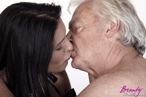 Horny old boss fucking his lovely brunet - XXX Dessert - Picture 9