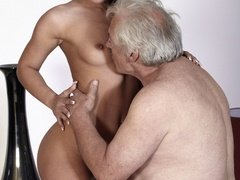 Horny old boss fucking his lovely brunette - XXX Dessert - Picture 10