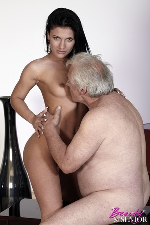 Horny old boss fucking his lovely brunet - XXX Dessert - Picture 10