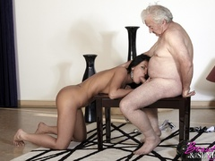 Horny old boss fucking his lovely brunette - XXX Dessert - Picture 11