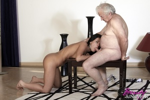 Horny old boss fucking his lovely brunet - XXX Dessert - Picture 11