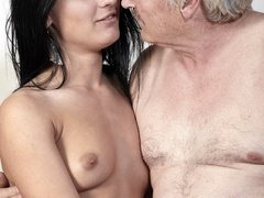 Horny old boss fucking his lovely brunette - XXX Dessert - Picture 15