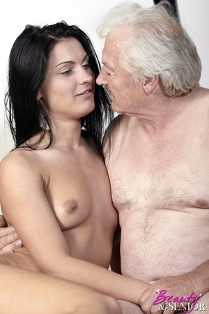 Horny old boss fucking his lovely brunet - XXX Dessert - Picture 15