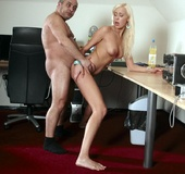 Older fat guy screws his dick into hot blonde&hellip;