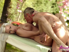 Old boy takes cool brunette chick in the - XXX Dessert - Picture 13