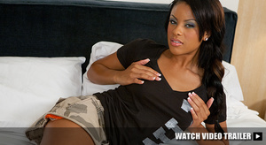 Petite black teen girl with a pink flowe - XXX Dessert - Picture 2