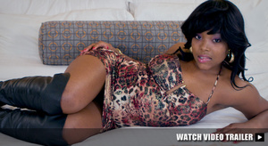 Petite black teen girl with a pink flowe - XXX Dessert - Picture 5