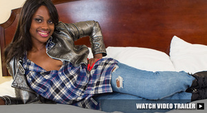 Petite black teen girl with a pink flowe - XXX Dessert - Picture 6