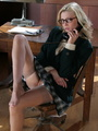 Lovely blonde secretary in glasses, - Picture 6
