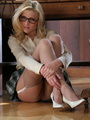 Lovely blonde secretary in glasses, - Picture 10