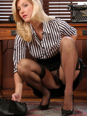 Gorgeous blonde secretary knows - Sexy Women in Lingerie - Picture 10