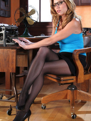 Gorgeous blonde secretary in high - Sexy Women in Lingerie - Picture 2