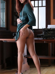 Very hot ginger secretary in a - Sexy Women in Lingerie - Picture 9