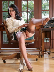 Dark-haired sexy secretary trying - Sexy Women in Lingerie - Picture 12