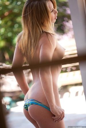 Very hot blonde bbe in blue bikini gets  - Picture 13