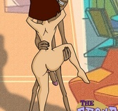 Horny black cartoon guy gonna fuck every woman he meets.