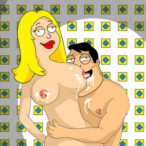 Cartoon dad Stan fucks his awesome blonde wife Francine while in priva..