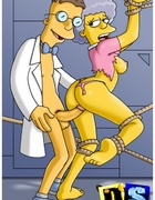 Sex hungry toon mom Marge Simpsons get her both…