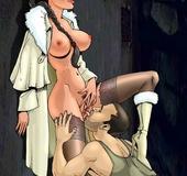 Dark haired busty Lara uses her gorgeous body to seduce the men around