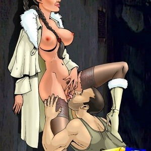 Super sexy cartoon Lara Croft gets deepthroated and ass fucked on the ..