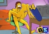 Simpsons enjoy some naughty fun times around the…