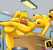Toon mom Maude Flanders caught riding Homer's dick…